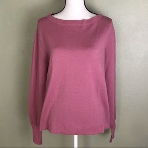 J. Crew Pink Long Sleeved smock wrist Sweater XL